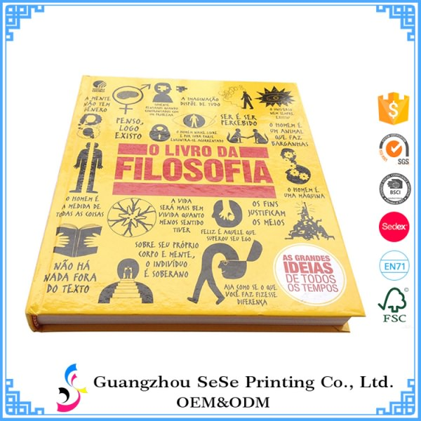 China Customized Full Color Lamination hardcover book printing 4