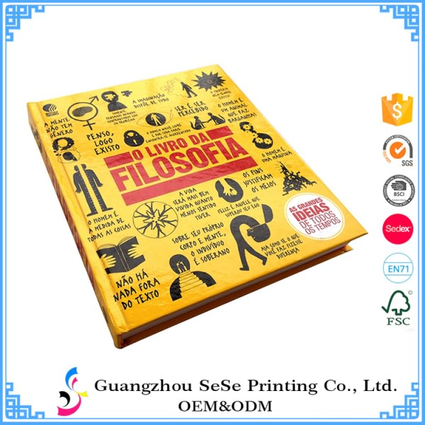 China Customized Full Color Lamination hardcover book printing  2