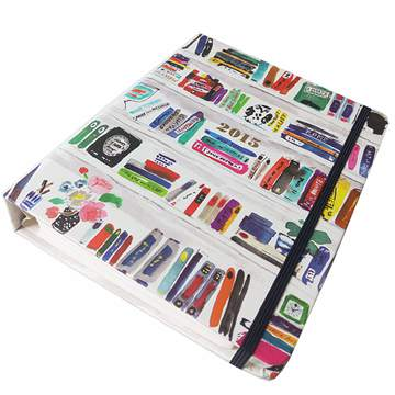 Custom printing recycle spiral notebook with Elastic bandage (3)