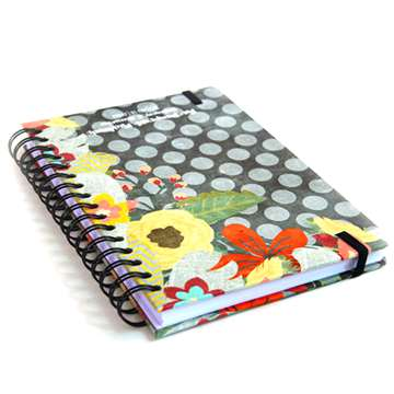 Custom A4 A5 A6 spiral Paper exercise notebook