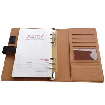 Custom printed leather spiral hardcover notebook planner (4)
