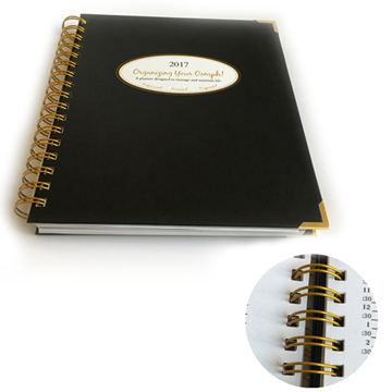 Professional custom printed luxury agenda notebook (1)