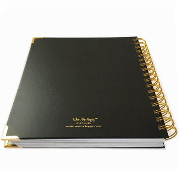 Professional custom printed luxury agenda notebook (4)