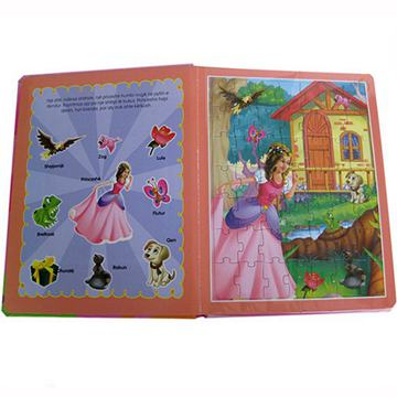 Custom Eco Friendly children Puzzle books printing