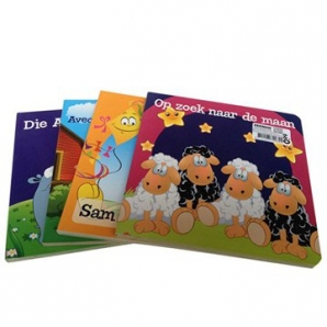 China Supplier wholesale 4C Hard cover board book printing