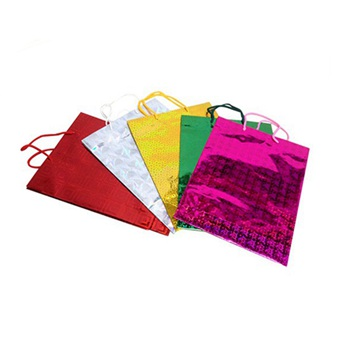 Colored Glossy Paper Shopping Bags