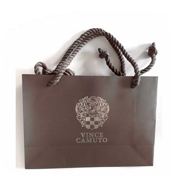 Custom made foil shopping gift paper bag with logo print