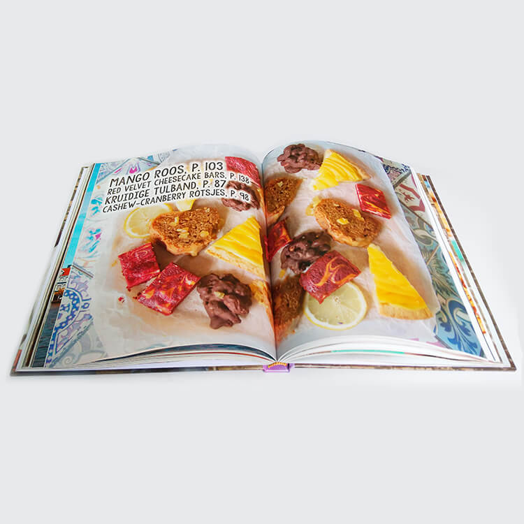 Factory print hardcover cook books (5)