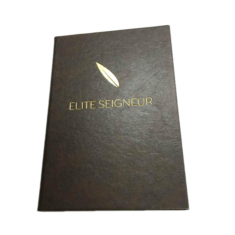 Promotional wholesale foil leather cover journals (2)