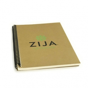 Soft cover journal with custom logo