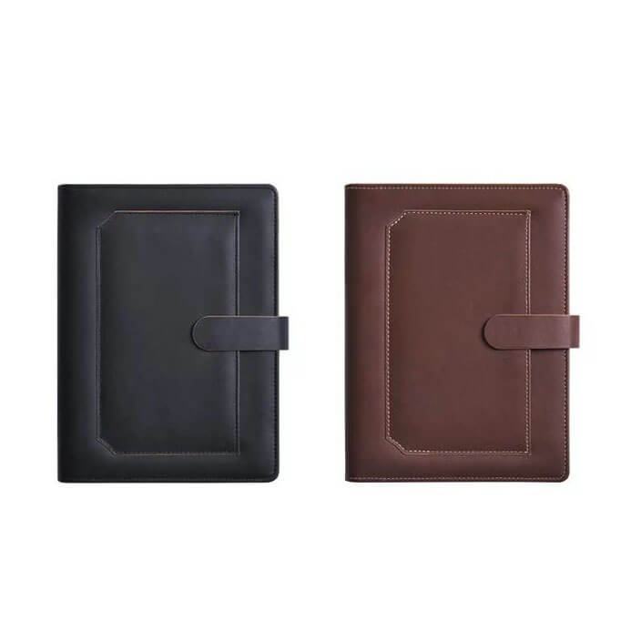 Custom PU Leather Cover Notebook With Zipper Pocket high quality